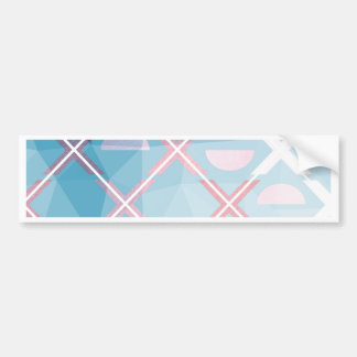 Abstract triangulate XOX Design Bumper Sticker