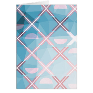 Abstract triangulate XOX Design Card