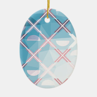 Abstract triangulate XOX Design Ceramic Ornament