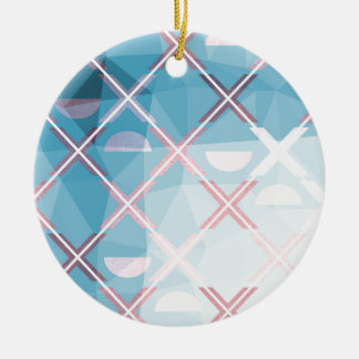 Abstract triangulate XOX Design Ceramic Ornament
