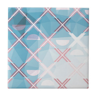 Abstract triangulate XOX Design Ceramic Tile
