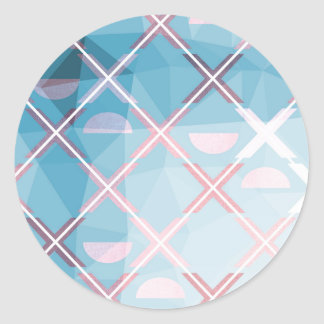Abstract triangulate XOX Design Classic Round Sticker