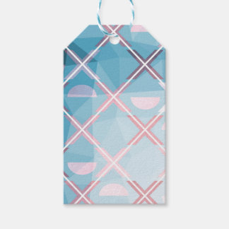 Abstract triangulate XOX Design Gift Tags
