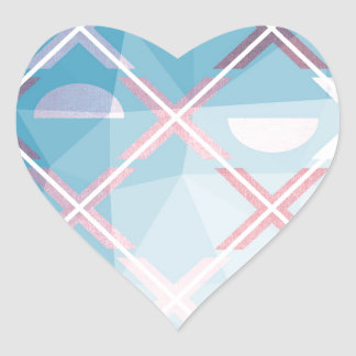 Abstract triangulate XOX Design Heart Sticker
