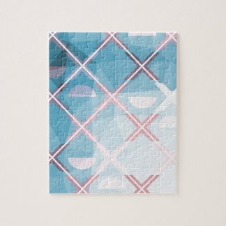 Abstract triangulate XOX Design Jigsaw Puzzle