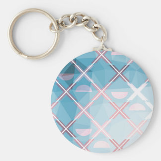 Abstract triangulate XOX Design Key Ring