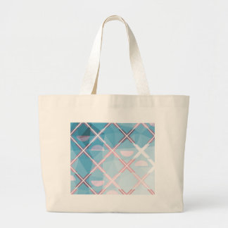 Abstract triangulate XOX Design Large Tote Bag