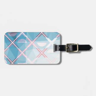 Abstract triangulate XOX Design Luggage Tag