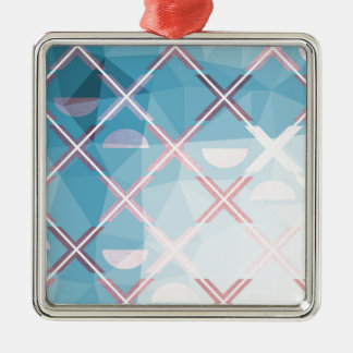 Abstract triangulate XOX Design Metal Ornament