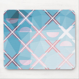 Abstract triangulate XOX Design Mouse Pad