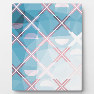 Abstract triangulate XOX Design Plaque
