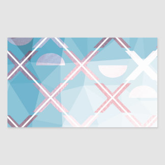 Abstract triangulate XOX Design Rectangular Sticker