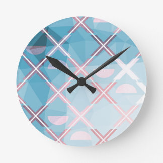 Abstract triangulate XOX Design Round Clock