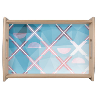Abstract triangulate XOX Design Serving Tray