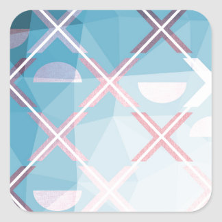 Abstract triangulate XOX Design Square Sticker