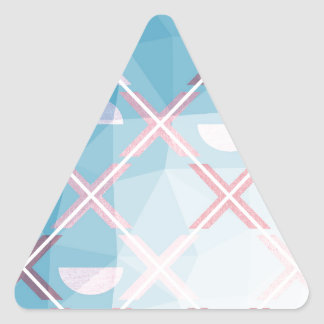 Abstract triangulate XOX Design Triangle Sticker