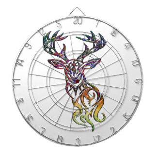 Abstract Tribal Deer Dartboard