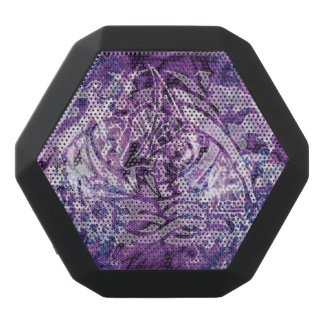Abstract Tribal Graffiti Digital Art, Purple&White