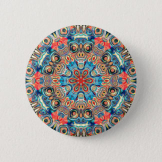 Abstract Tribal Mandala 6 Cm Round Badge