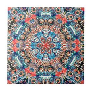 Abstract Tribal Mandala Ceramic Tile