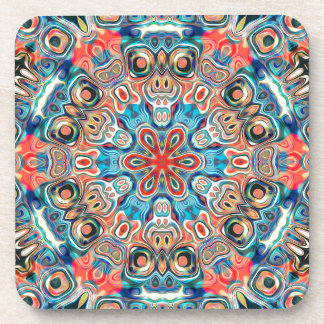 Abstract Tribal Mandala Coaster