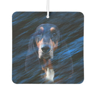 Abstract tricolor Basset Hound Car Air Freshener