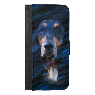 Abstract tricolor Basset Hound iPhone 6/6s Plus Wallet Case