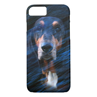 Abstract tricolor Basset Hound iPhone 8/7 Case