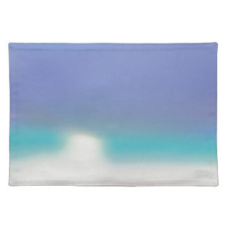 Abstract Tropical beach Placemat