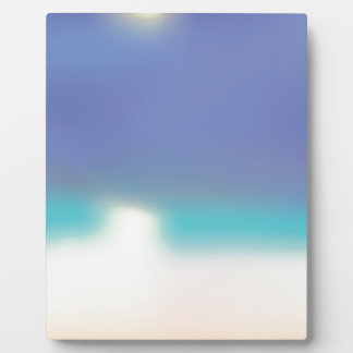 Abstract Tropical beach Plaque