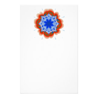 Abstract Tropical Blue Flower Plant Stationery