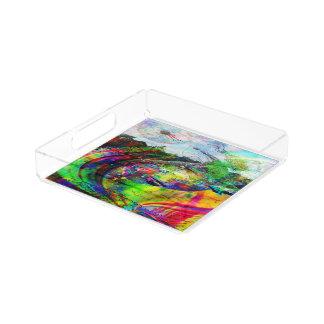 Abstract Tropical Fantasy Acrylic Tray