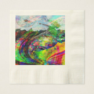 Abstract Tropical Fantasy Disposable Serviette
