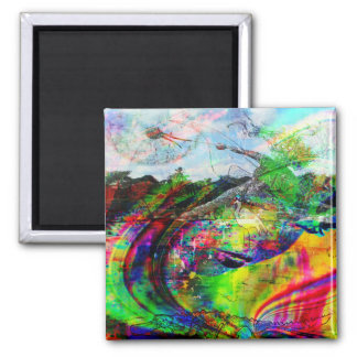Abstract Tropical Fantasy Magnet