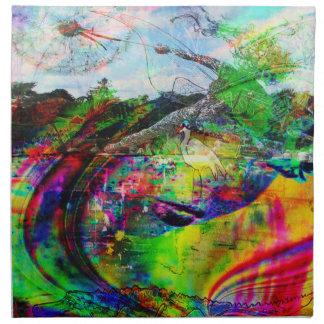 Abstract Tropical Fantasy Napkin