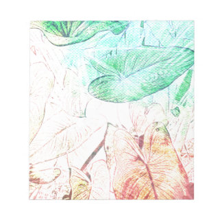 Abstract Tropical Leaves Design k Notepad