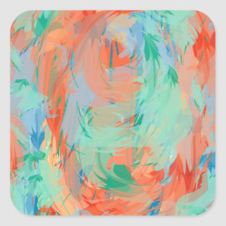 Abstract Tropical Painting Stickers