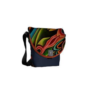 Abstract Tropical Rickshaw Zero Messenger Bag