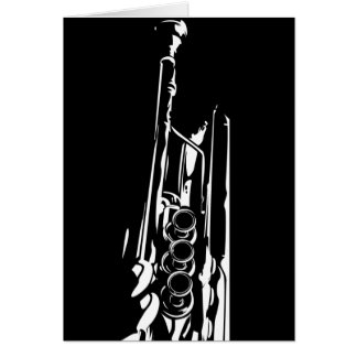 Abstract Trumpet Greeting Card