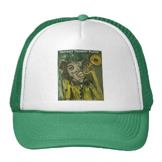 abstract trumpet player hats