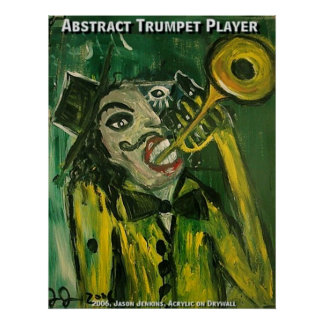 Abstract Trumpet Player Print
