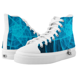 Abstract Tulle Star in Light Blue Printed Shoes