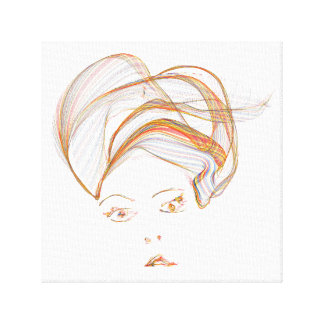 Abstract Turbaned Lady Print