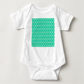 Abstract turquoise baby bodysuit