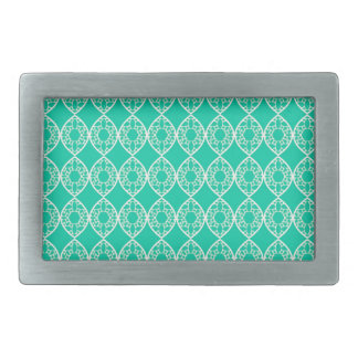 Abstract turquoise belt buckles