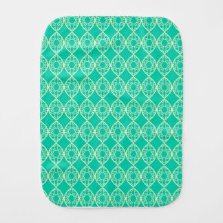Abstract turquoise burp cloth