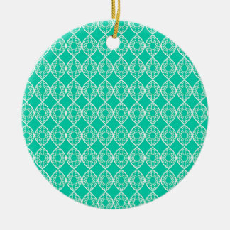 Abstract turquoise ceramic ornament