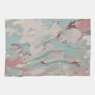 Abstract Turquoise Dreams Tea Towel