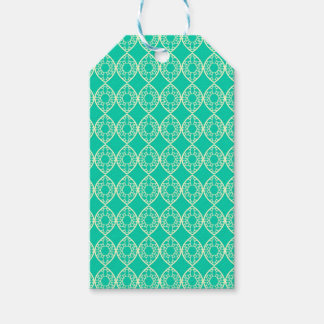 Abstract turquoise gift tags