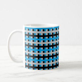 Abstract Turquoise, Grey and Black Coffee Mug